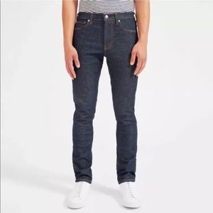 Everlane Dark Blue Indigo Slim Skinny Jeans